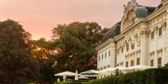 Schloss Halbturn Abendröte