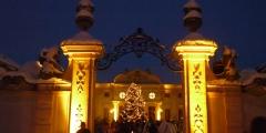 romantisches Ambiente am Weihnachtsmarkt